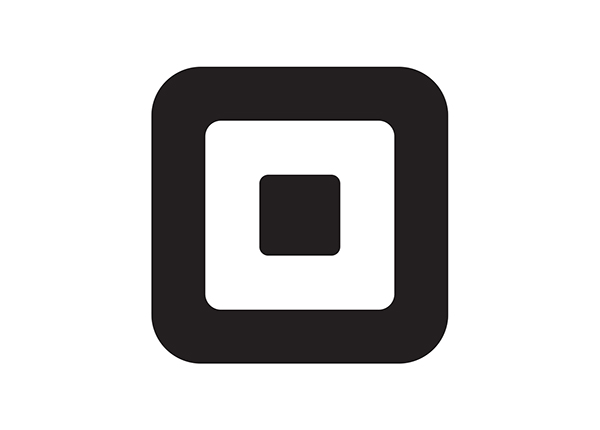 Squareup.ca logo. Concentric black and white squares with rounded edges, on white background.